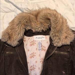Abercrombie and Fitch Corduroy Bomber Jacket